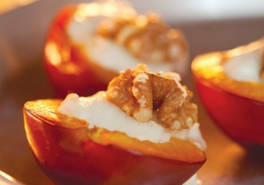 STUFFED PLUMS WITH BLUE CHEESE