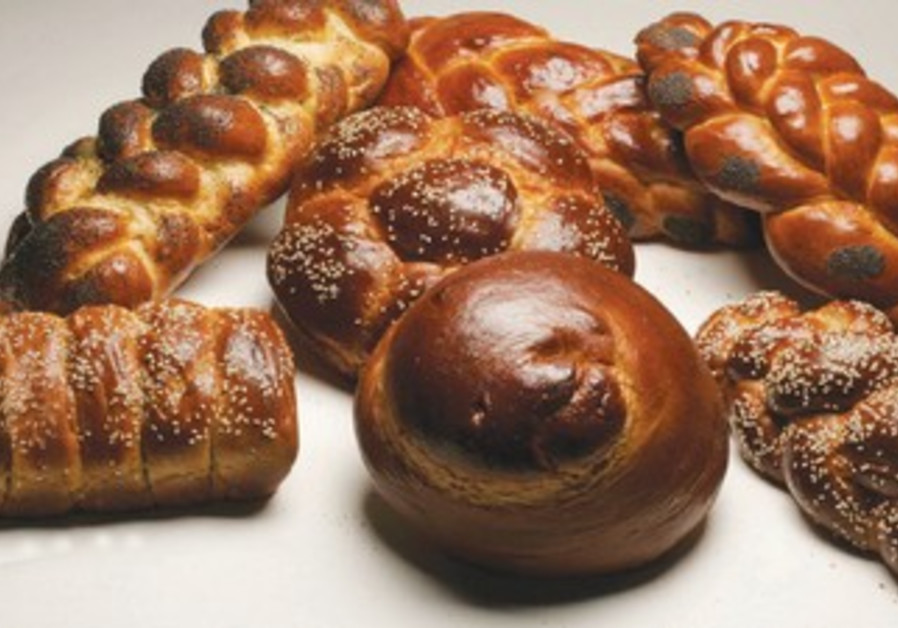 Selection of halla breads