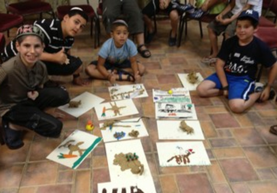 Children at Camp Koby v'Yosef