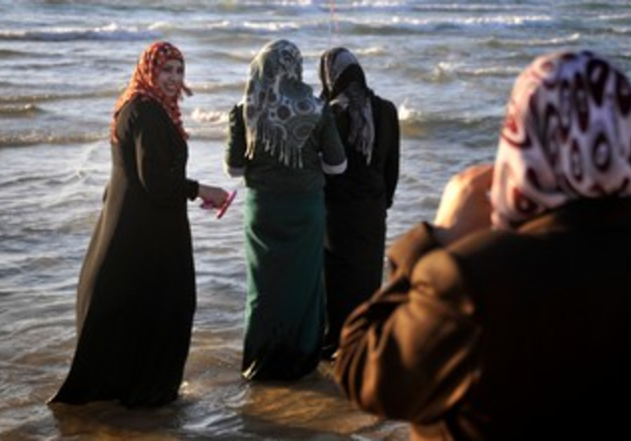 Eid al-Fitr celebrations at the beach in Tel Aviv.
