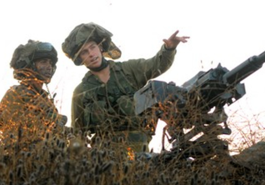 Nahal Battalion Golan Heights war drill