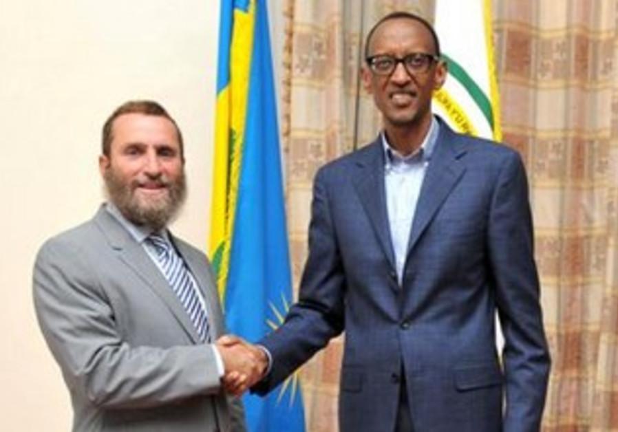 Rabbi Shmuley Boteach and Rowanda President  Paul Kagame.