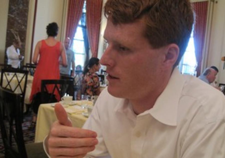 Joseph P. Kennedy III (D-MA) talks to 'The Jerusalem Post' at the King David Hotel in Jerusalem.