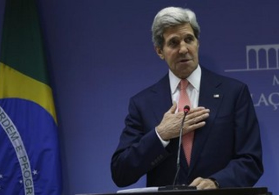 US Secretary of State John Kerry during a press conference in Brazil, August 13, 2013.