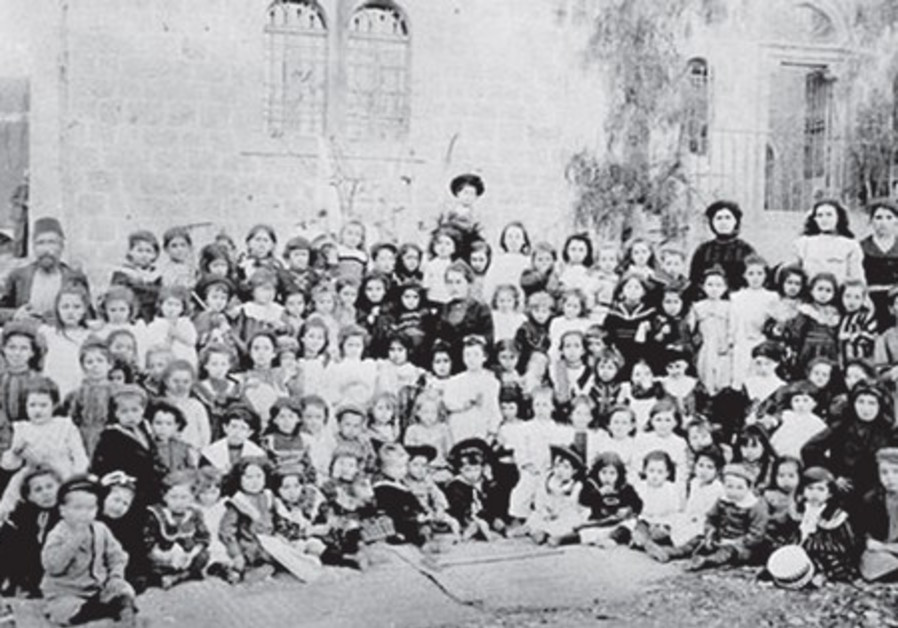 THE FIRST Hebrew Kindergarten, established by B'nai B'rith Jerusalem Lodge. (