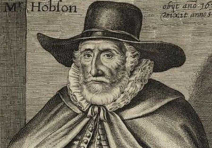 Thomas Hobson. Portrait by noted 17th-century English engraver John Payne.