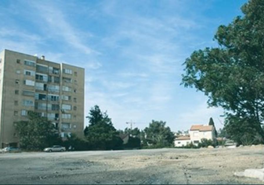 The plot of land known as Warburg lot in Jerusaelm's Kiryat Yovel neighborhood