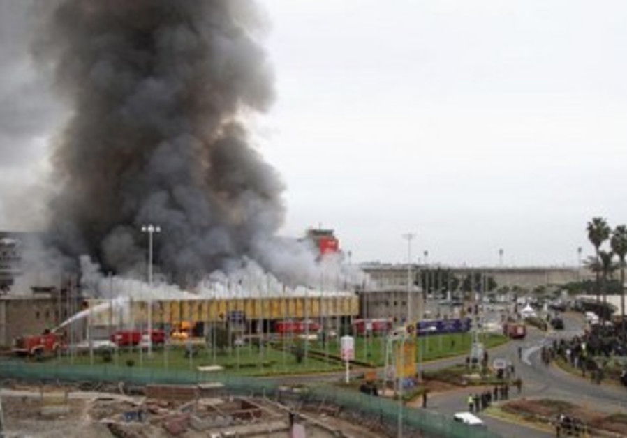 The Jomo Kenyatta International Airport goes up in flames, in Nairobi, Kenya, August 7, 2013.