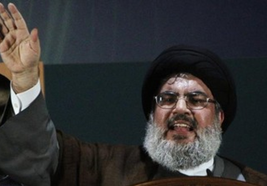 Hezbollah leader Hassan Nasrallah in rare public speech, August 3, 2013.