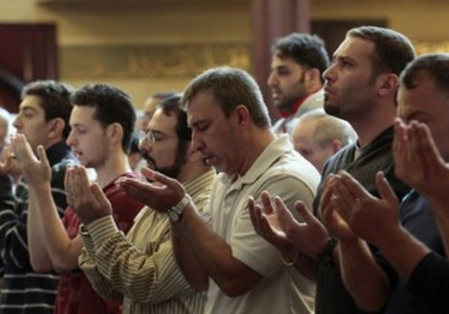 Muslim-American men perform afternoon prayers [file]