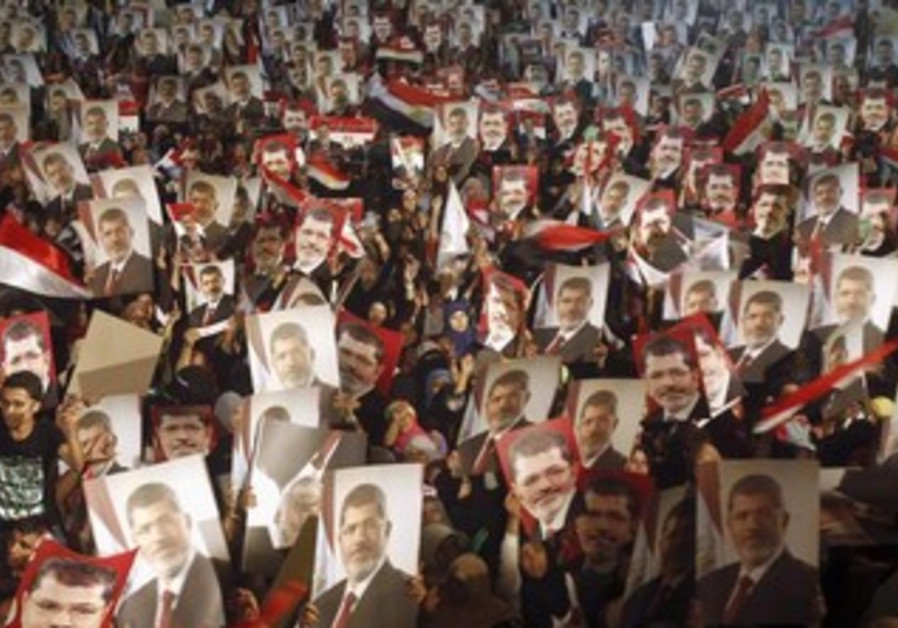 Members of the Muslim Brotherhood and supporters of Egypt's President Mohamed Morsi.