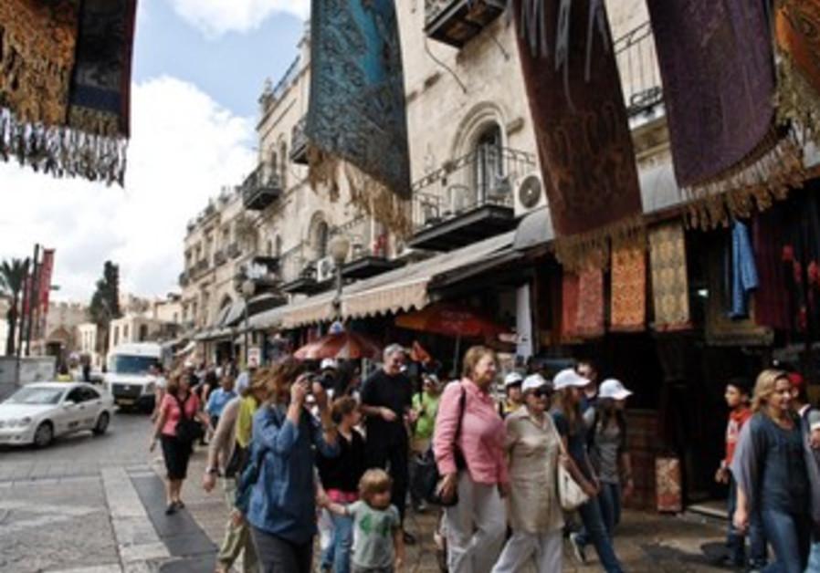 Tourists in Jerusalem
