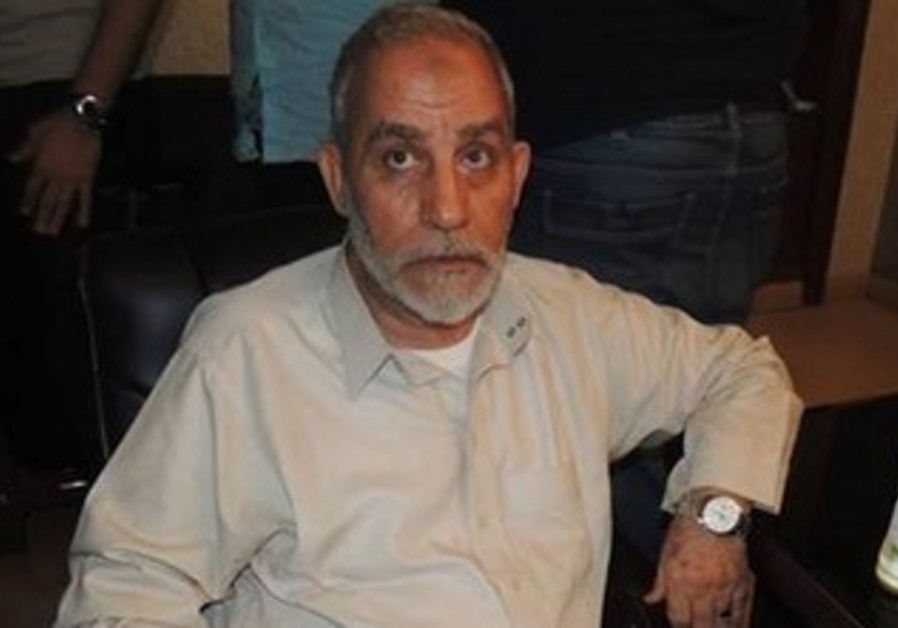Muslim Brotherhood leader Mohamed Badie arrested, August 20, 2013.