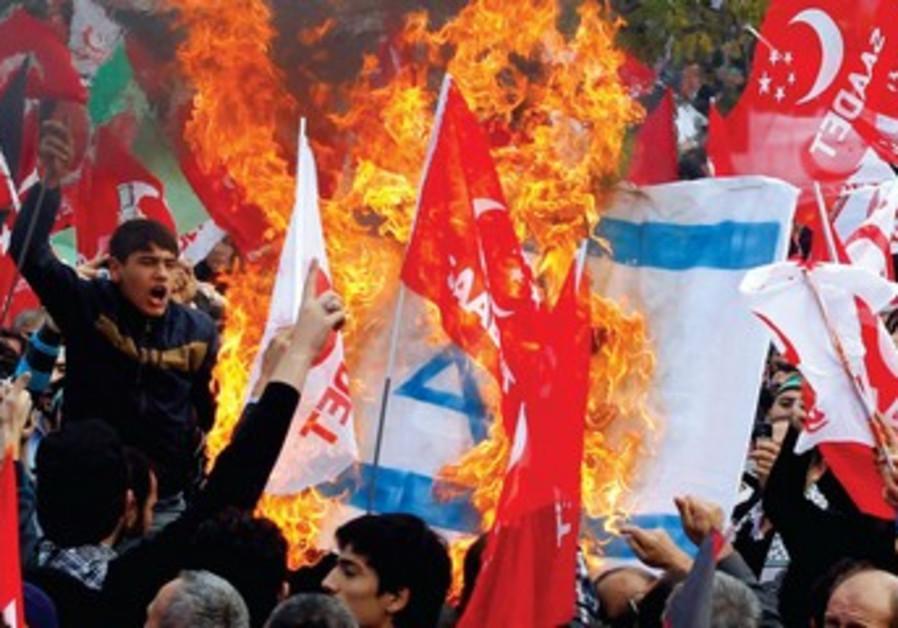 Manifestation anti-israélienne, Istanbul, décembre 2012.