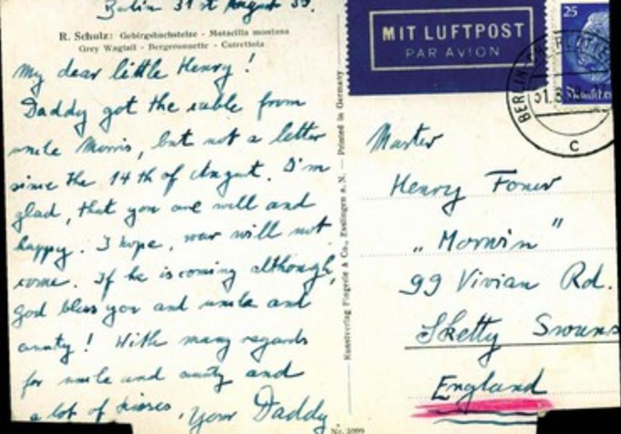 Carte postale d'un convoi d'enfants évacués en 1939.