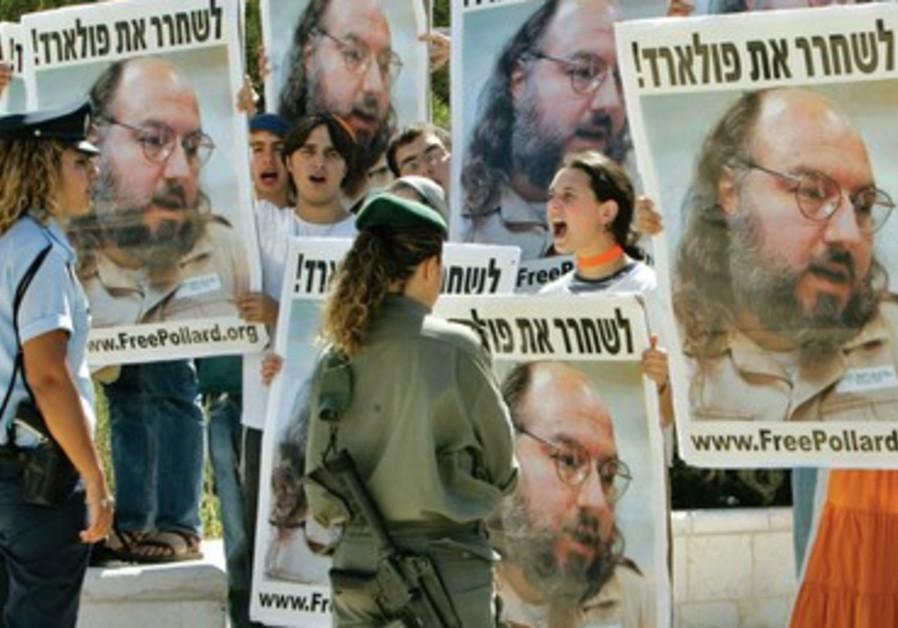 Manifestation en faveur de la libération de Jonathan Pollard devant la résidence du Premier ministre