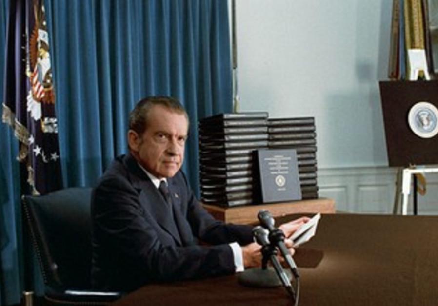 Former US president Richard Nixon, April 18, 1994