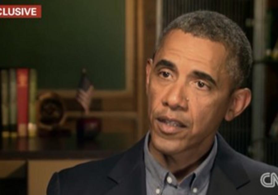 US President Barack Obama on CNN