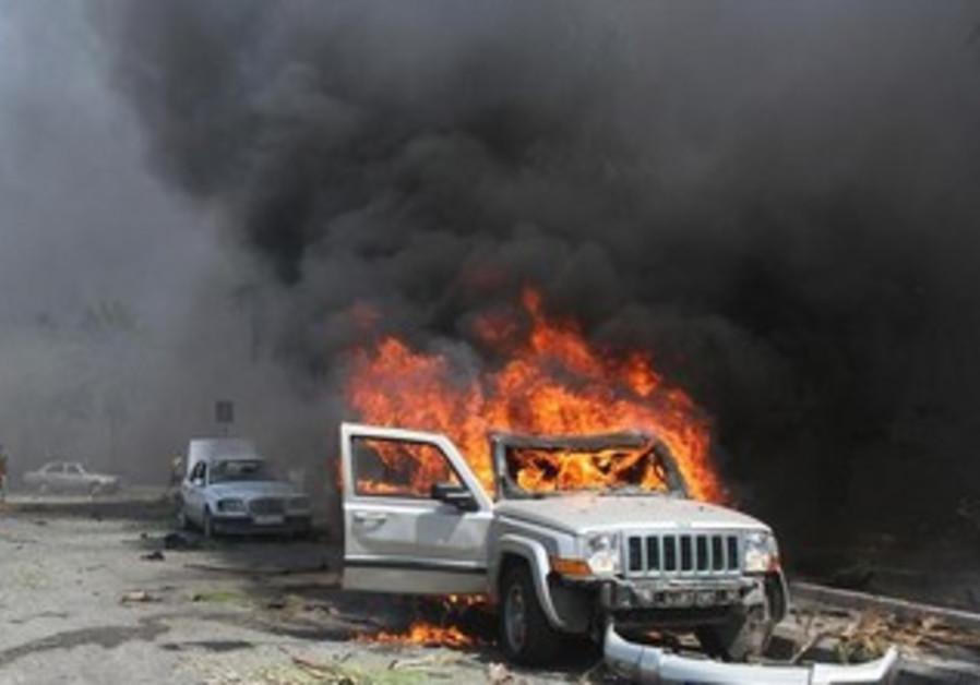 Scene of bombing in northern Lebanese town of Tripoli