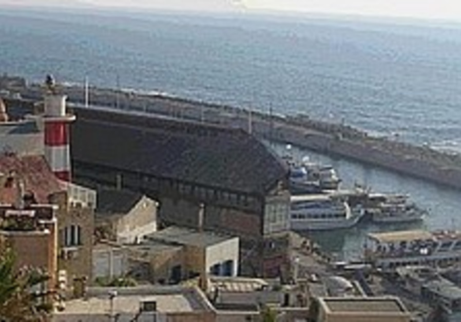 jaffa port aerial view with sea in background 298