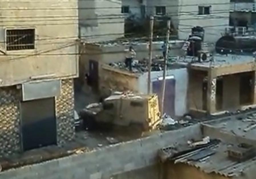 IDF clashes with Palestinians in Kalandiya, August 26
