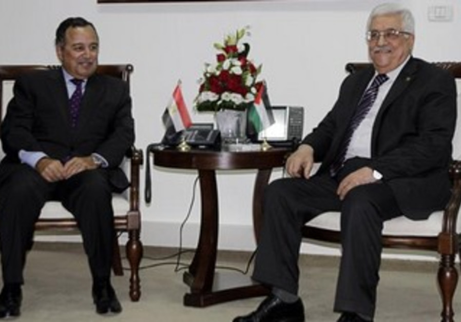 Egypt's Foreign Minister Nabil Fahmy speaks in the West Bank city of Ramallah August 26, 2013.