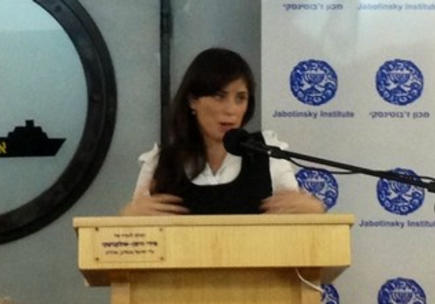 Deputy Transportation Minister Tzipi Hotovely talks tough.