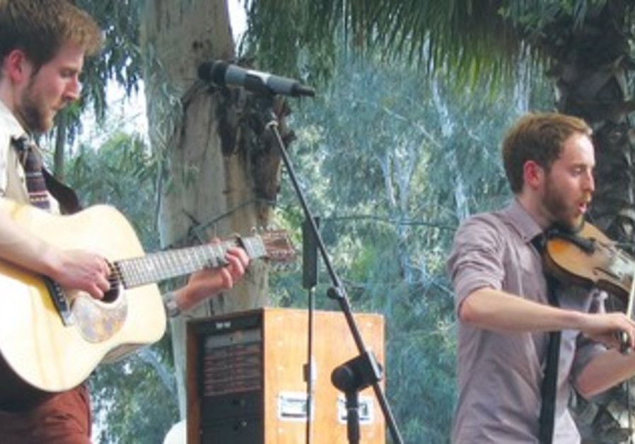 The Abrams Brothers performing at the Jacob's Ladder Festival.