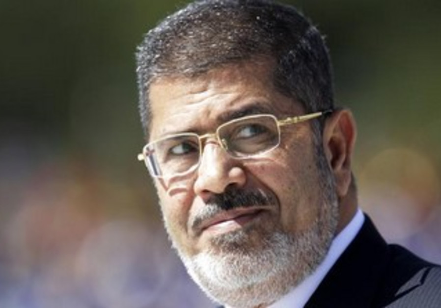 Deposed Egyptian President Mohamed Morsi