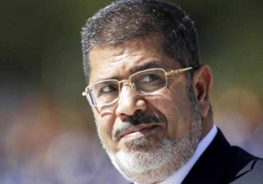 Deposed Egyptian President Mohamed Morsi