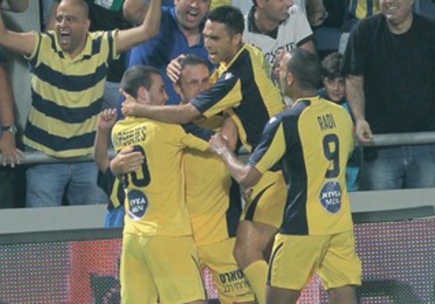 Maccabi Tel Aviv celebrates goal