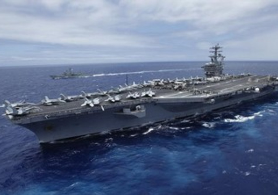 The USS Nimitz, a nuclear-powered aircraft carrier.
