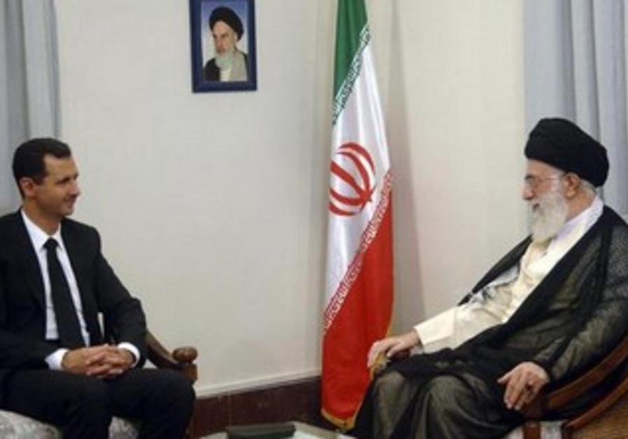 Syrian President Bashar Assad and Iranian spiritual leader Ayatollah Ali Khamenei [file]