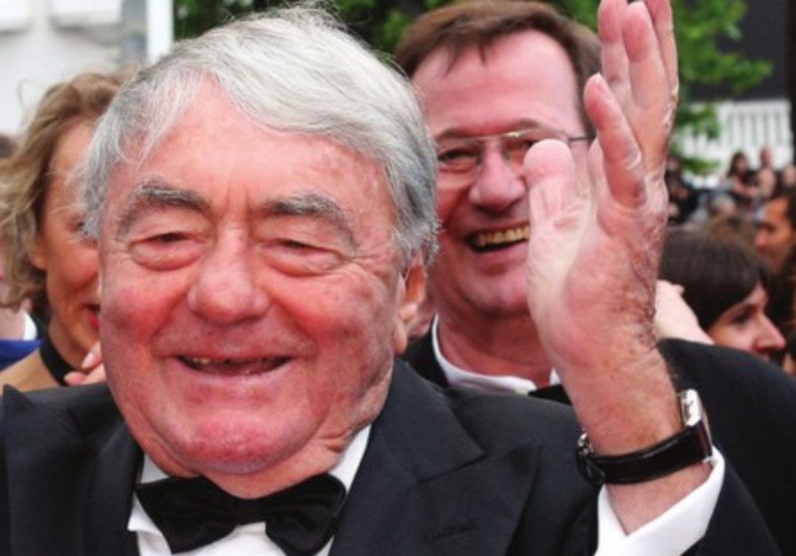 Lanzmann arrives for the screening of 'The Last of the Unjust' during the Cannes Film Festival, May