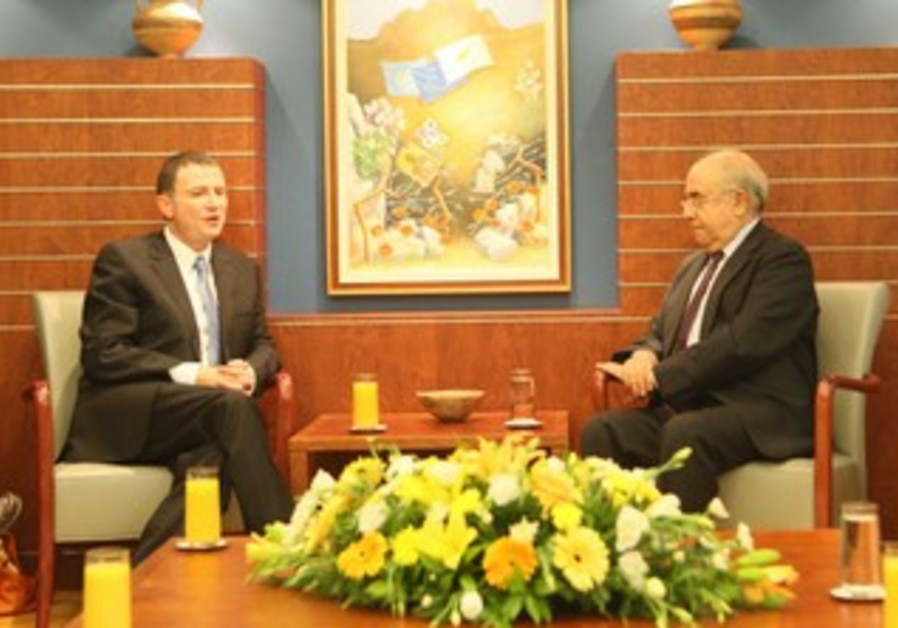 Edelstein met with his Cypriot counterpart, Yiannakis Omirou, in Nicosia.