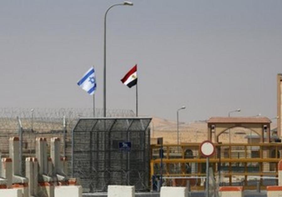 The Nitzana border crossing between Israel and Egypt