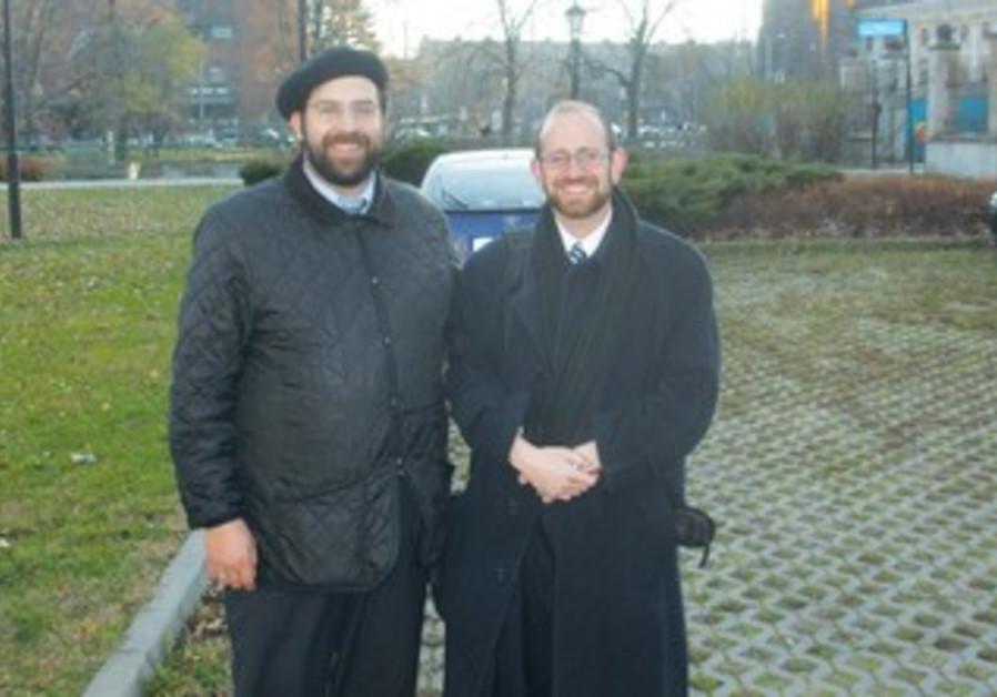 ELIEZER SHAI di Martino (left) and Yehoshua Grunstein.
