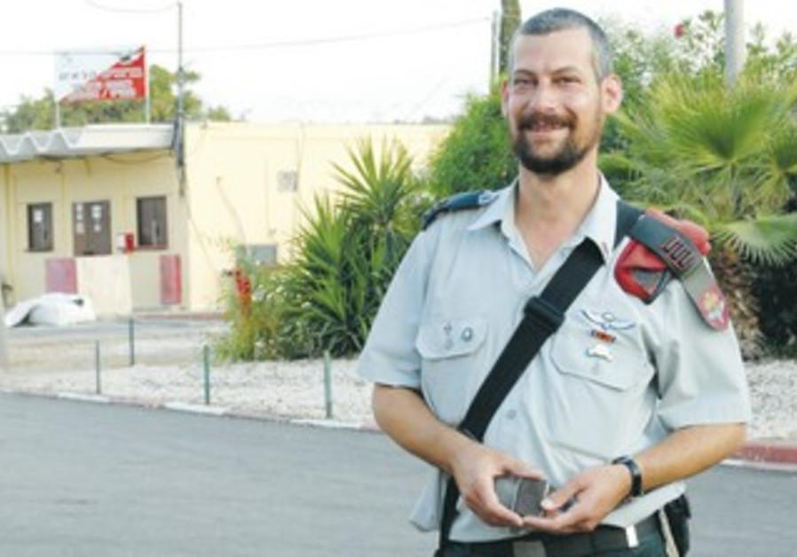 IDF RABBI Capt. Moshe David Schwartz. 'The Psalms protect me,' he says.