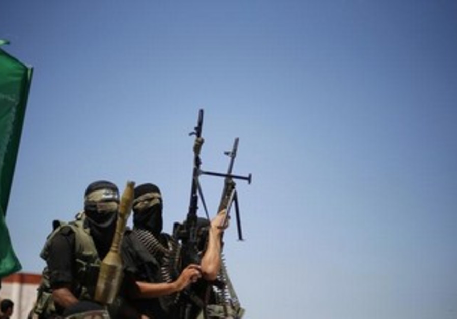 Hamas gunmen in the northern Gaza Strip