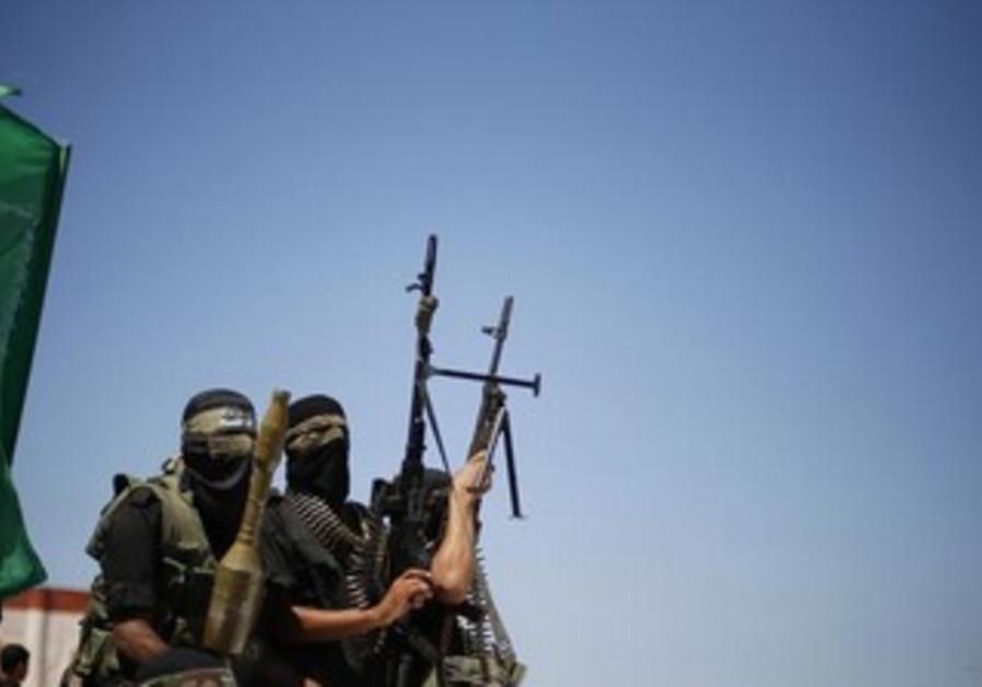 Hamas gunmen in the northern Gaza Strip