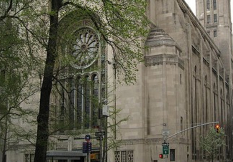 TEMPLE EMANU-EL, on New York's Fifth Avenue, was founded in 1845.
