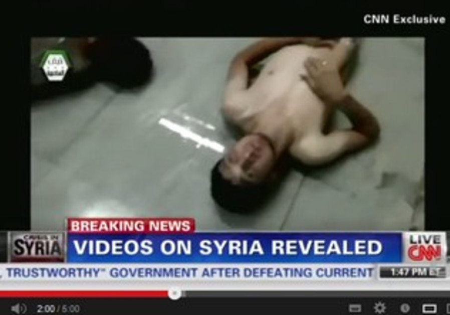 CNN video showing Syrian victims of attack