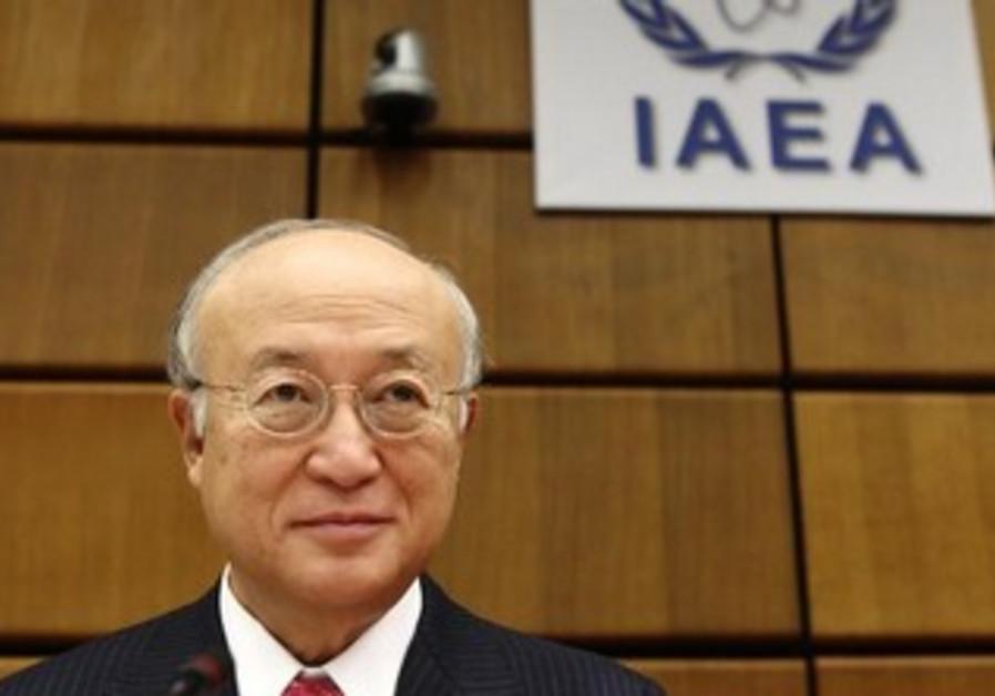 IAEA Director General Yukiya Amano waits for board of governors meeting to begin September 9, 2013.