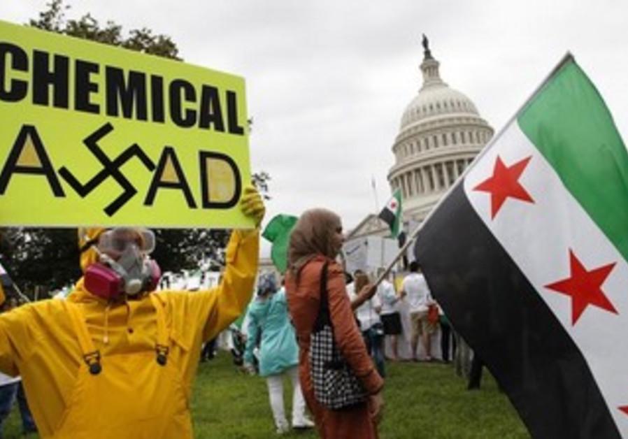 Anti-Assad protesters in Washington