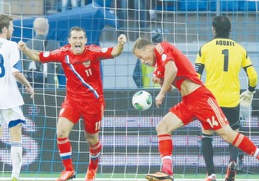 Russia defeats Israeli national soccer team 370