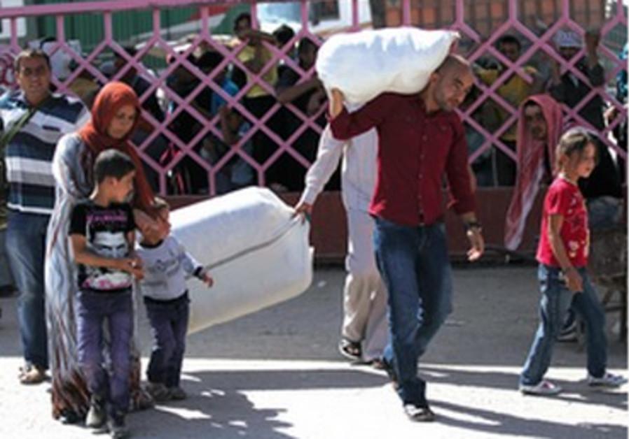 Une famille de réfugiés syriens  samedi 7 septembre