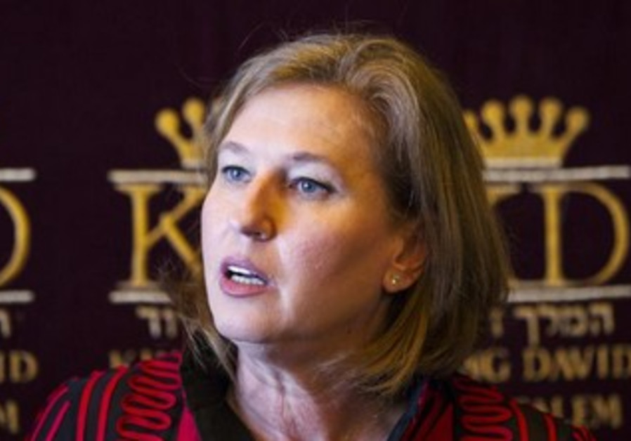 Tzipi Livni, Israel's justice minister and chief negotiator