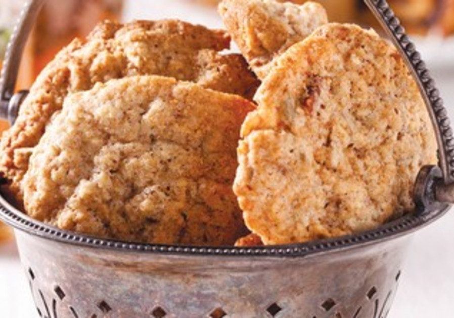 Oat and walnut cookies