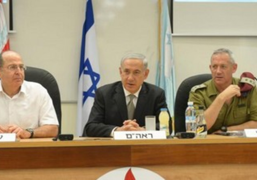 Netanyahu and Ya'alon announce the extension of Gantz's tenure