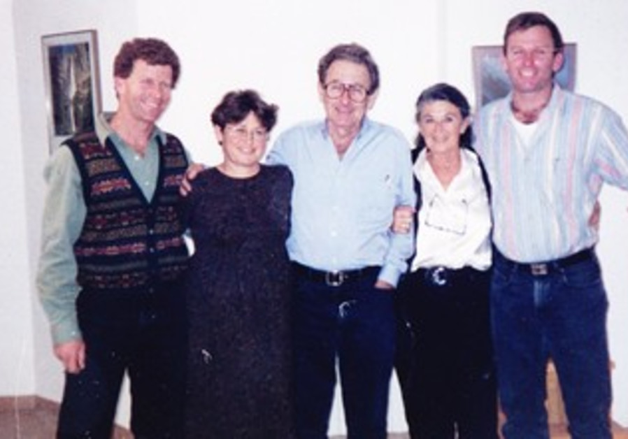 Murray Greenfield with his family.